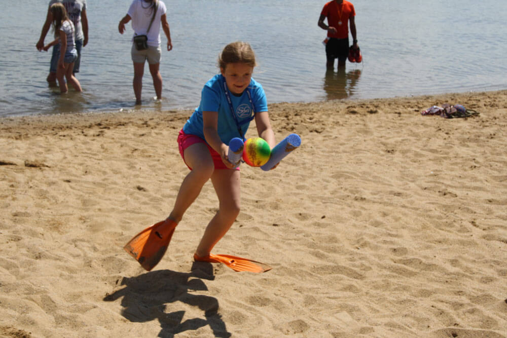 Strandolympiade und Radsternfahrt zum Aktivtag am 18.06. am Kap Zwenkau